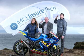 MCL InsureTech unveiled as sponsors for Supertwin race at 2019 fonaCAB International North West 200 in association with Nicholl Oils
