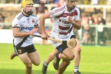 Hurling champions in Ulster Club action
