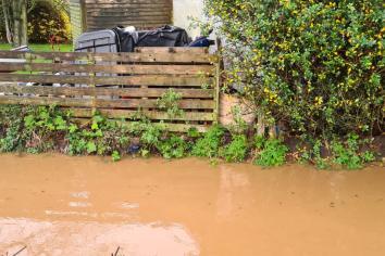 Stream close to flooding Portrush houses
