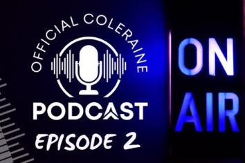 Midfielder appears in second episode of Coleraine FC podcast