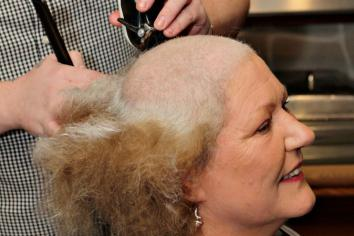 Ann 'Braves the Shave' for charity