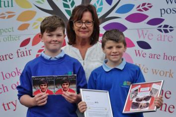 Kilmoyle kids give top marks to Best statue