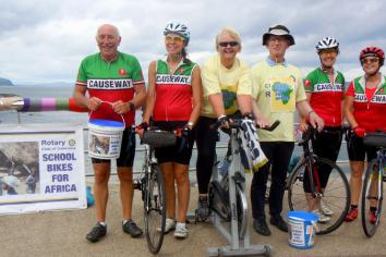 Rotary Club in top gear with static cycle event