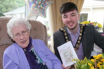 Mayoral birthday greetings for centenarian Isa Edmundson