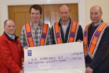 Ballinrees LOL charity cheque