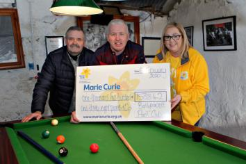 Simon and friends pot funds for cancer charity